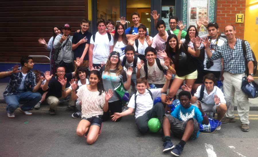 Young people from Argentina and Dragon Hall