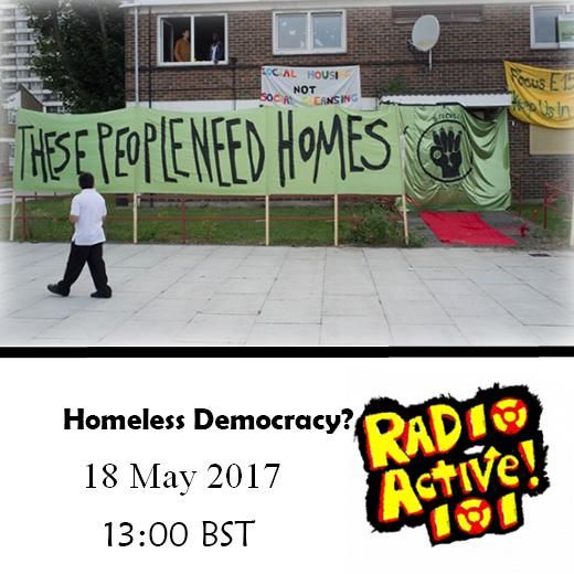 On Air – 18 May 2017 – A Homeless Democracy?