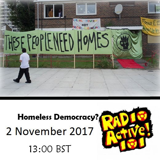 On Air – 2 Nov 2017 – A Homeless Democracy?